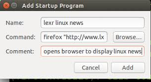 add to startup run programs and tasks on linux startup automatically