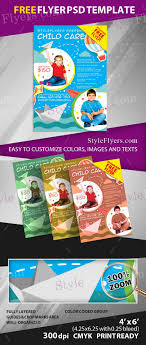 Child Care Free Psd Flyer Template Free Download 12422 Styleflyers