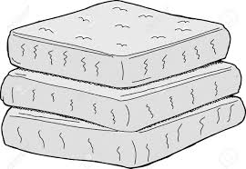 Stack Of Mattresses Clipart Clip Art 123rfcom Isolated Stack Of Cartoon Mattresses On White Background Stock Vector 31086682 Stack Of Cartoon Mattresses On White Background Royalty