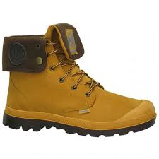 palladium baggy leather gusset amber gold