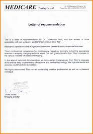 9 Recommendation Letter For Doctor Art Resumed