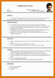 6 7 Proforma Of Resume Artresumeexamples Com