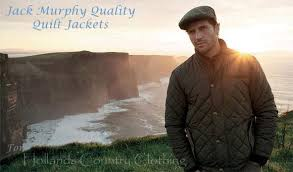 Jack Murphy Jonathan Men's Quilted Jacket – Hollands Country Clothing & MAN AT COAST wearing Jack Murphy Jonathan Men's Quilted Jacket. Two Colours Adamdwight.com