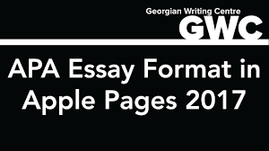 How To Format An Apa Paper In Apple Pages 2017