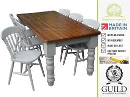 traditional x pine beech farmhouse dining table 4 chair set