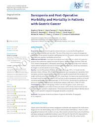 2 02 Skeletal Muscle Chart Pdf Sarcopenia And Post Operative Morbidity And Mortality