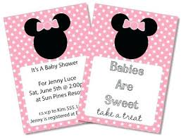 Brilliant Free Printable Mouse Baby Shower Invitations As Invitation