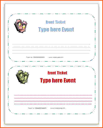 Event Ticket Template Word 12 Microsoft Word Ticket Template Survey Template Words