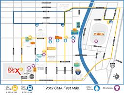 Unofficial 2019 Cmafest Map 2019 Cma Fest Autograph