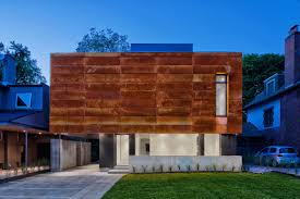 Cor ten steel Cladding House In Toronto Wrapped In Corten Steel Azom House In Toronto Wrapped In Corten Steel Design Milk