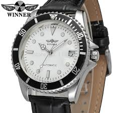 online buy whole watch company men from watch company wrg8066m3t2 winner new automatic men white color dress watch factory company black leather strap shipping