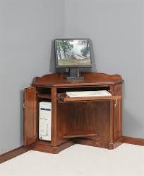 image of small corner armoire desk