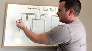 how to hang sheet rock how to hang drywall to avoid cracks around doors 2010 youtube