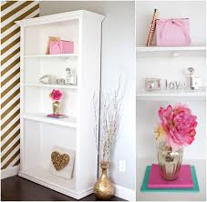 pink office decor. pink and gold bedroom decor office