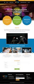 Web Design Reston Elegant Playful Entertainment Web Design For Action