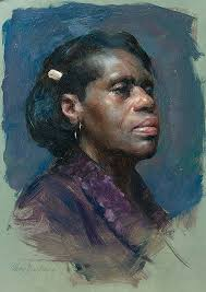 donna max ginsburgh contemporary figurative artist female head african american black portrait paintingsoil