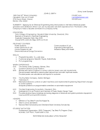 Cover Letter For Resume Electrical Engineer Fresher Adriangatton Com