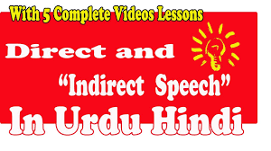 Direct And Indirect Speech Urdu Definition Examples Rules