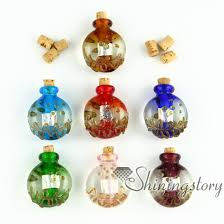 small glass vials for necklaces miniature hand blown glass bottle charms jewellery miniature glass jars assorted