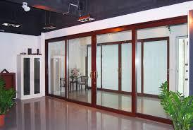 thermal break double glazing aluminum sliding door