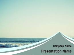 Free Beach Waves Powerpoint Template Backgrounds Beach Waves