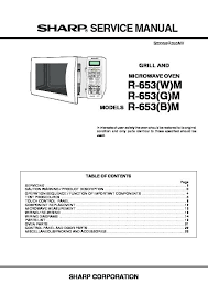 Packing List Cool Microwave Oven Parts List R Service Manual Ge Microwave Oven Parts