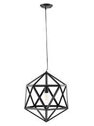 hexagon black metal chandelier
