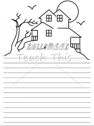 halloween writing paper halloween teacher resources worksheets  halloween writing paper