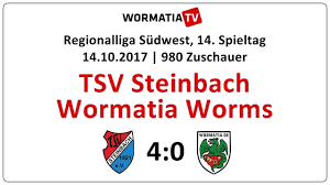 Zusammenfassung Tsv Steinbach Wormatia 4 0 14 10 2017 Youtube