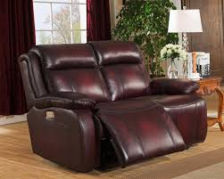 amax faraday power reclining brown red genuine leather loveseat power headrest reviews amax faraday
