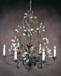 white wrought iron crystal chandelier kitchen traditional chandeliers