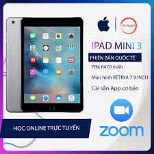 Máy tính bảng ipad mini 3 Quốc tế chính hãng bảo hành 6 tháng 1 đổi 1 tại  nhà trong 30 ngày tốt giá rẻ