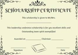 Scholarship Certificate Template Scholarship Recipient Certificate Template Certificate