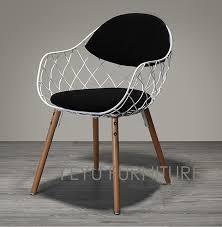Wire furniture Doll Minimalist Modern Design Metal Steel Wire Chair With Solid Wooden Leg Base Modern Design Home Furniture Fashion Dining Chair Aliexpresscom Minimalist Modern Design Metal Steel Wire Chair With Solid Wooden