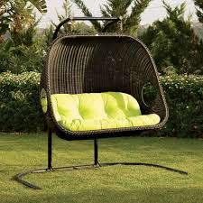 ideas patio furniture swing chair patio. Awesome Collection Of Cool Frontyard Exterior Design With Black Rattan Hanging Wicker Great Patio Furniture Ideas Swing Chair