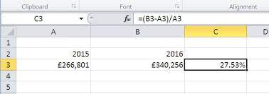 how to calculate percenes in excel