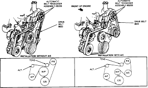 ford f what is the order or diagram serpentine belt