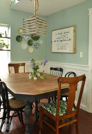 this dining room table only cost 37 at a thrift after stripping and bleaching