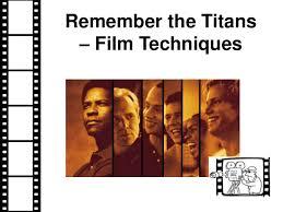 remember the titans film techniques