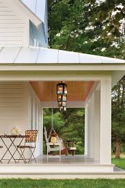 porch lighting ideas. Porch Lighting Ideas Farmhouse With White House Painted Wood Floor Swing R