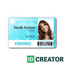 Custom Nurse Id Card Same Day Shipping From Idcreator