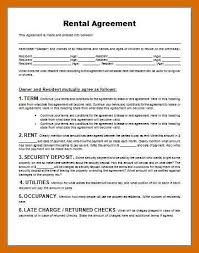 6-7 Rental Agreement Sample | Generalresumes.info