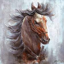 eliassen 3d painting canvas 100x100cm horse