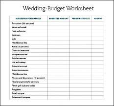Wedding Budget Excel Spreadsheet Planner Planning Template Checklist