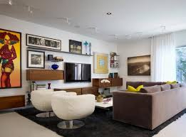furniture placement in living room. Superb Living Room Furniture Placement Around The TV On Wall In