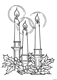 Small Picture Coloring page Christmas Candles Coloringme