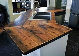barn wood countertops with kitchen countertops