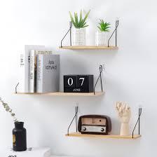 new s m l wooden iron wall shelf wall