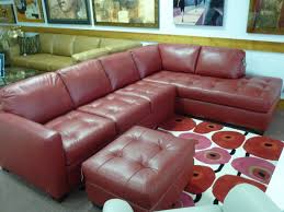 sectional couches with red leather sofa and red ottoman design also lighting lamp for family room