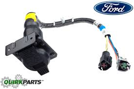 7 pin trailer harness 1996 1997 ford f150 f250 f350 bronco 7 pin trailer tow wire harness connect oem